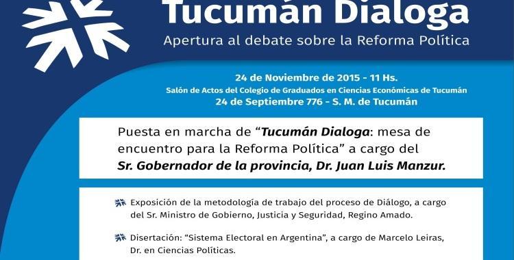 El Gobierno provincial inició un debate para la reforma política   El Diario 24