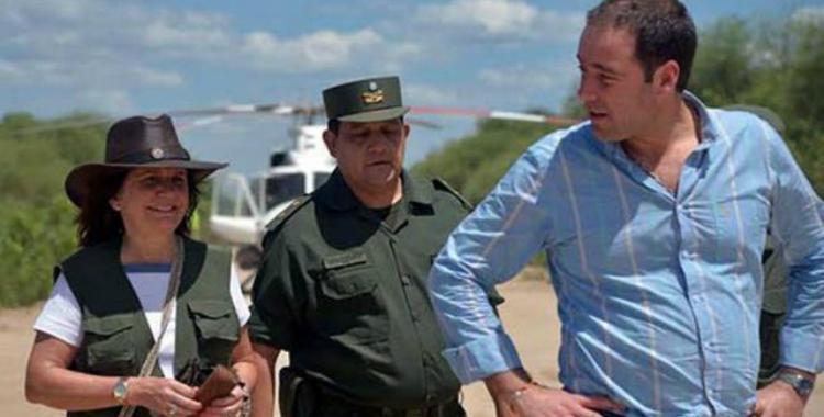 """Bullrich fue el centro de atención por el """"uniforme"""" que eligió para recorrer la frontera   El Diario 24"""