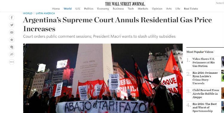 Para la prensa internacional el fallo de la Corte fue un duro golpe para Macri | El Diario 24