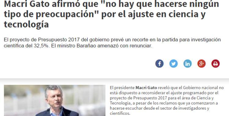 Una aplicación para ponerle 'Macri Gato' a los titulares de prensa   El Diario 24