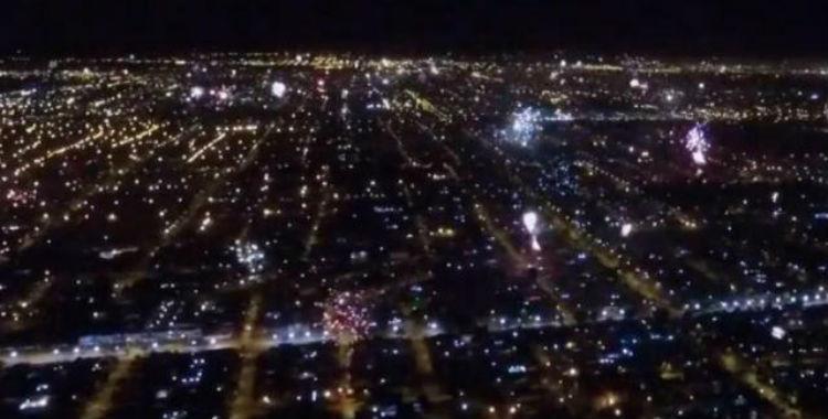 Video: mirá como se vieron los festejos de Año Nuevo a través de un drone   El Diario 24