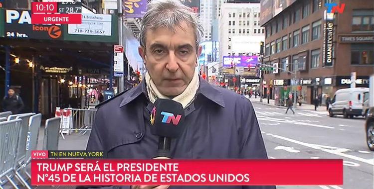 Nelson Castro viajó para cubrir la asunción de Trump y fue el centro de las burlas en Twitter | El Diario 24