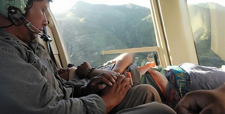 El 107 realizó un exitoso rescate aéreo en la zona de alta montaña   El Diario 24