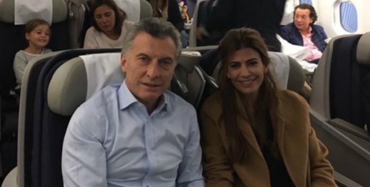 Después de 442 días de gestión, Macri voló por primera vez por Aerolíneas Argentinas | El Diario 24