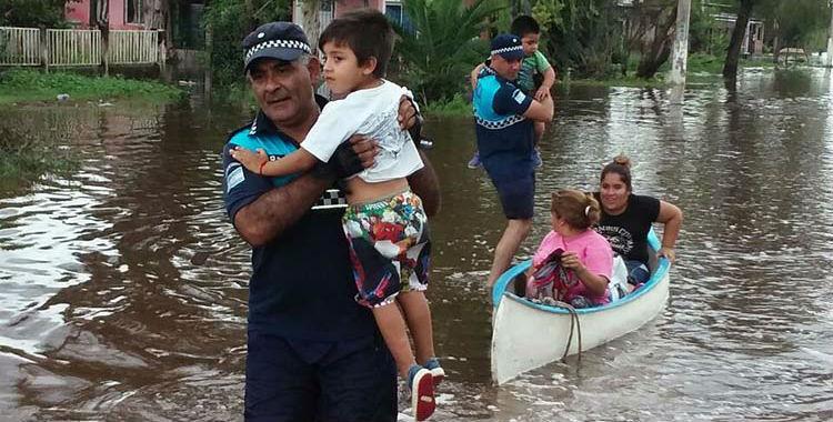 El nivel del agua bajó un metro y medio en La Madrid | El Diario 24