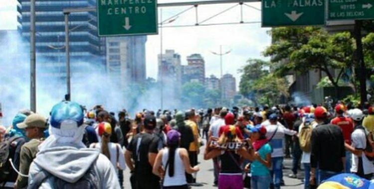 Incidentes durante marcha opositora en Venezuela | El Diario 24