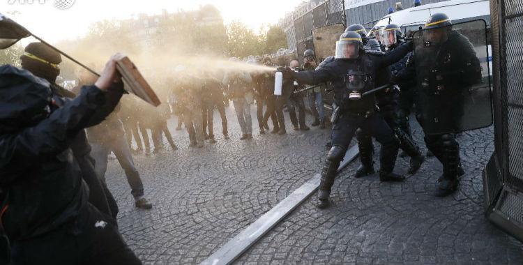 Paris: protestas contra los resultados de las elecciones derivaron en enfrentamientos con la policía   El Diario 24