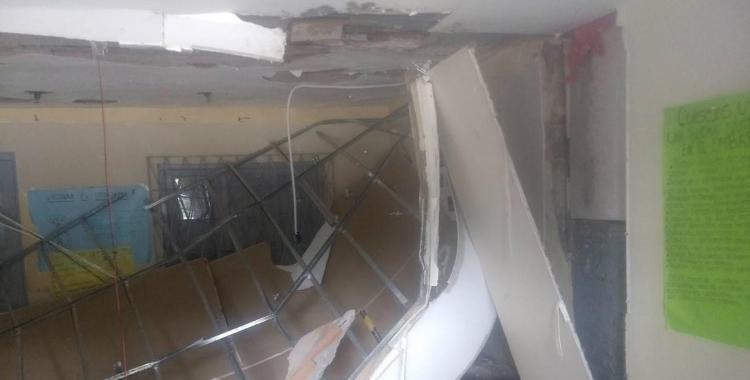 El techo de un CAPS en El Manantial se derrumbó | El Diario 24