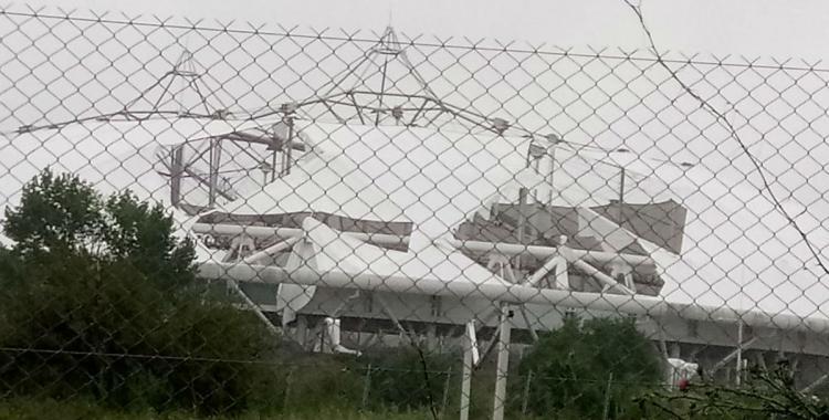 Por las lluvias, otra vez se voló parte del techo del estadio Único de La Plata   El Diario 24