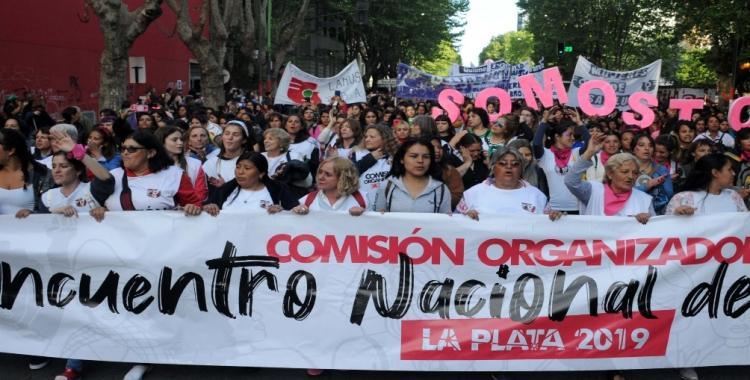 Gicantescta marcha de mujeres y disidentes sexuales por el centro de La Plata   El Diario 24