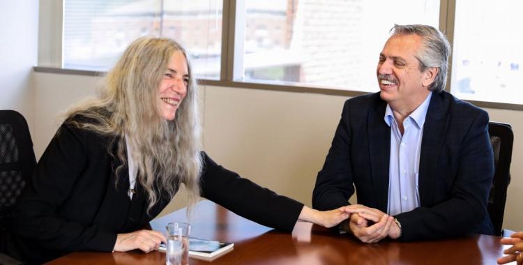 Alberto Fernández se reunió con la cantante y activista Patti Smith | El Diario 24