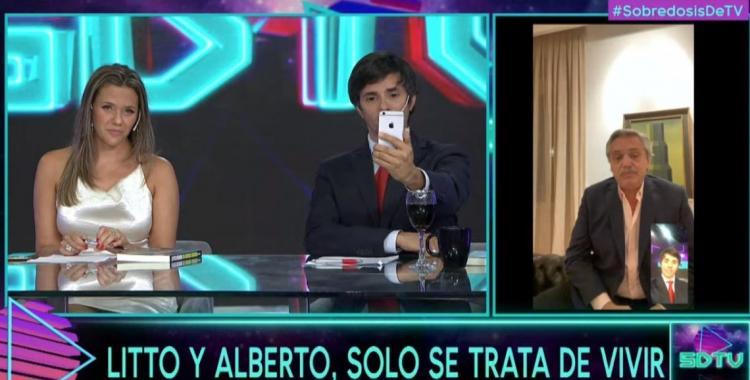 Original presentación de Alberto Fernández en Sobredosis de TV | El Diario 24