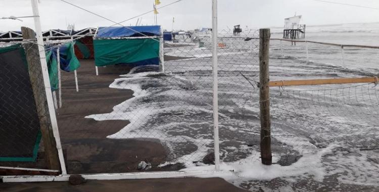 Una inusual crecida del mar se devoró las playas de Mar del Plata | El Diario 24