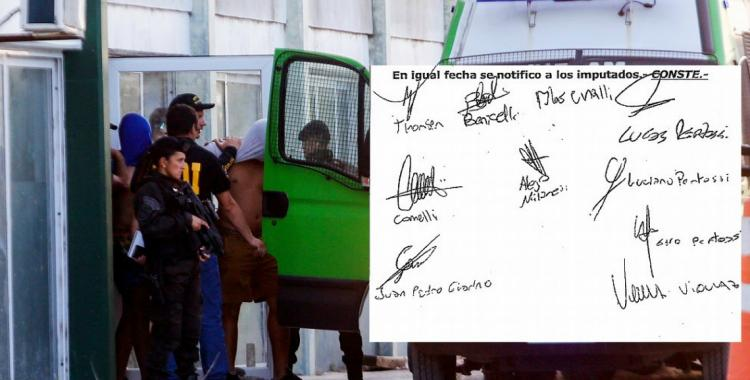 Qué revelan las firmas de los rugbiers acusados de asesinar a Fernando Báez Sosa | El Diario 24