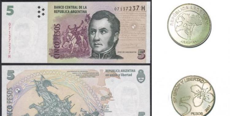 Fin de ciclo: Chau al billete de $5 y a la imagen de San Martín | El Diario 24