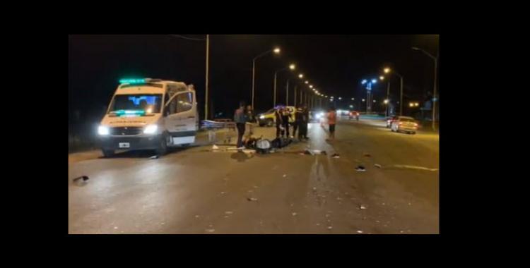 Chocó a dos motociclistas, los dejó tirados y se fugó   El Diario 24