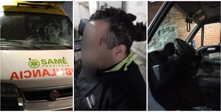 Ingresaron a un hospital, atacaron a un guardia y destrozaron una ambulancia | El Diario 24
