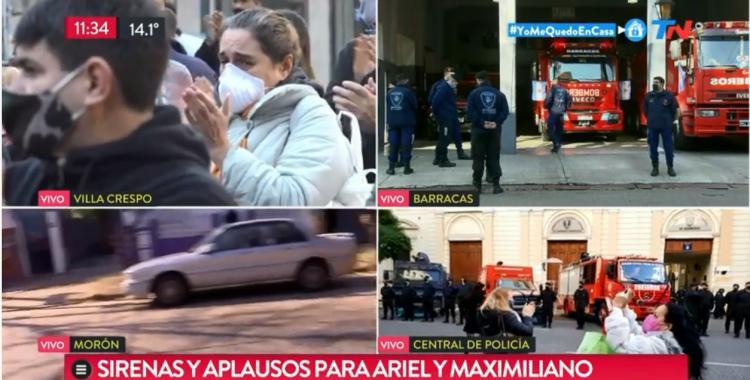 VIDEO: Emotivo homenaje a los bomberos que perdieron la vida en la explosión de Villa Crespo | El Diario 24
