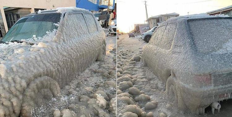 Tierra del Fuego bate récord: la térmica llegó a -20° y se congelaron los autos   El Diario 24