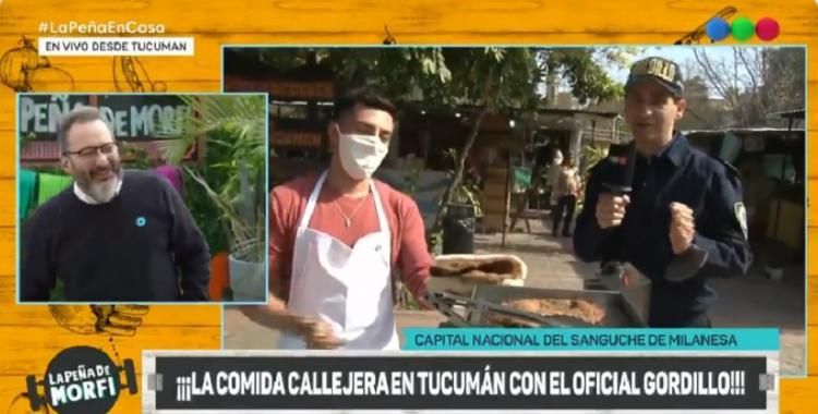 Video: el Oficial Gordillo le enseñó a los porteños cómo se hace el sánguche de milanesa tucumano   El Diario 24
