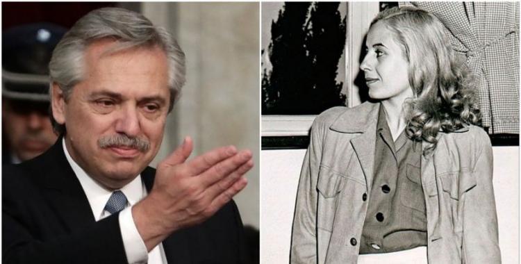 Alberto Fernández recordó a Evita con un mensaje en Twitter | El Diario 24
