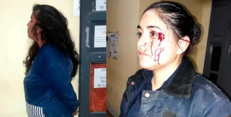 Salvaje ataque a una mujer policía durante un control vehicular | El Diario 24