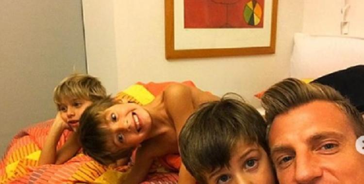 Maxi López se reencontró con sus hijos después de ocho meses y compartió las fotos en las redes | El Diario 24