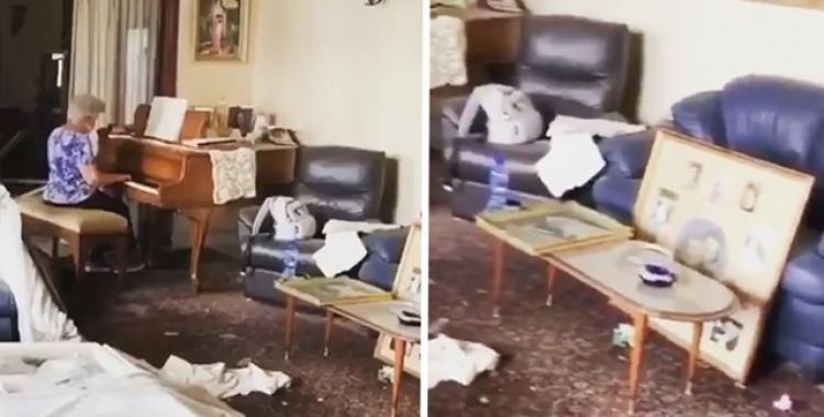 VIDEO: Una anciana tocó su piano entre los escombros tras la explosión en Beirut | El Diario 24