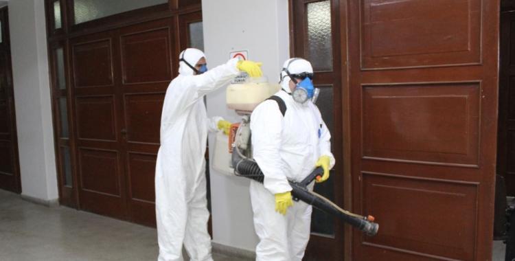 Declaran dos días inhabiles y desinfectan todo el Palacio de Tribunales | El Diario 24