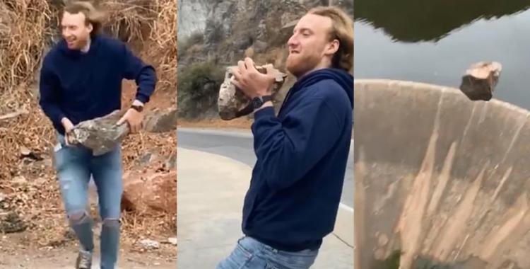Córdoba: detienen al tiktoker que se grabó tirando una piedra en el embudo del dique San Roque | El Diario 24