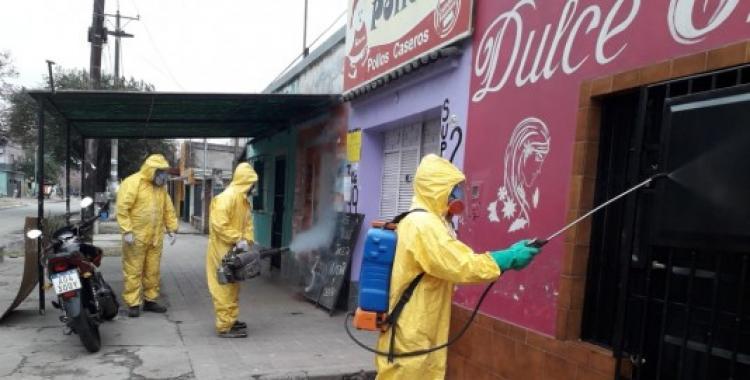 Operativos de desinfección en barrios de la zona norte de la Capital para prevenir contagios de coronavirus   El Diario 24