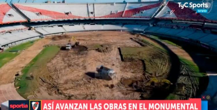 Ya destruyeron el campo de juego del Monumental de Nuñez | El Diario 24
