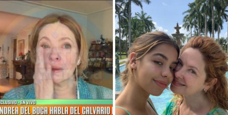Andrea del Boca reveló tenebrosos detalles de cómo su ex pareja, abusaba de la hija de ambos | El Diario 24
