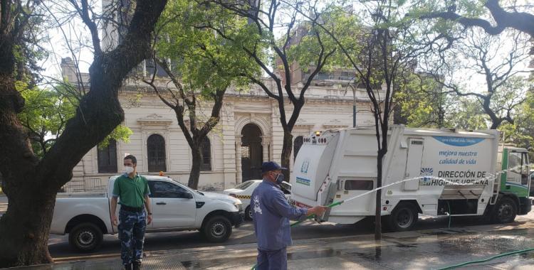 Desinfección en Plaza Urquiza para prevenir el coronavirus: dónde será el próximo operativo   El Diario 24