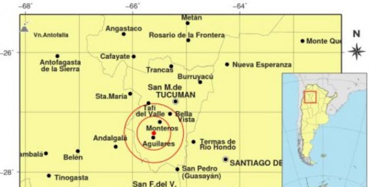 Temblor en Tucumán: la mañana de este miércoles comenzó con un sismo | El Diario 24
