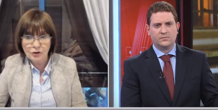 VIDEO Papelón en vivo: El enojo de Jonatan Viale durante una entrevista a Patricia Bullrich | El Diario 24
