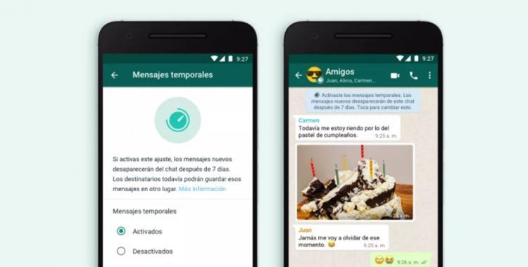 WhatsApp lanzó su nueva función de Mensajes temporales: mirá para que sirven y cómo activarla | El Diario 24