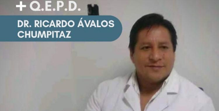 Otro médico tucumano falleció por Covid-19: murió el Dr. Ricardo Ávalos Chumpitaz, Jefe de Guardia del Hospital Padilla | El Diario 24