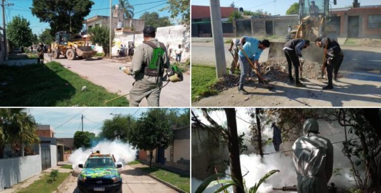 Contra el coronavirus y el dengue: operativo sanitario en el barrio Jardín   El Diario 24