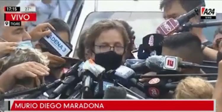 Diego murió alrededor de las 12 y tiene todas las características de una muerte natural, dijo el fiscal | El Diario 24