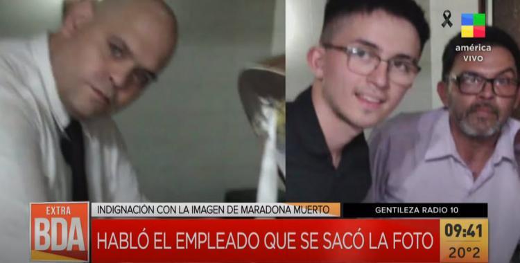 Pido perdón: Habló uno de los trabajadores que se fotografió con el cuerpo de Diego Maradona   El Diario 24