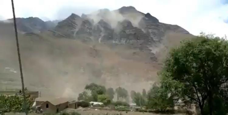 VIDEO: un temblor provocó derrumbes en los cerros de Humahuaca   El Diario 24