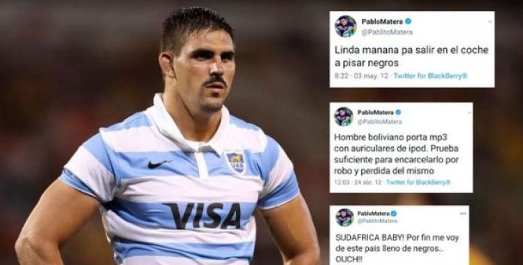 Escándalo con Pablo Matera, capitán de Los Pumas: viralizaron sus mensajes racistas y tuvo que dar de baja su cuenta   El Diario 24