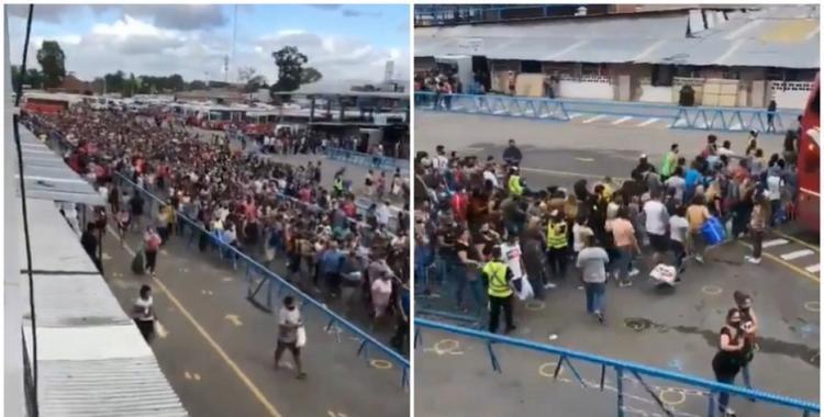 VIDEO: así fue el descontrolado ingreso sin distanciamiento social en La Salada   El Diario 24