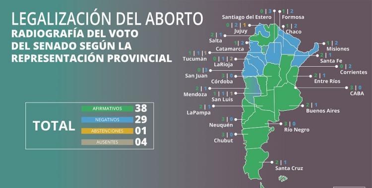 Uno por uno: cómo votaron los senadores la nueva ley del aborto | El Diario 24