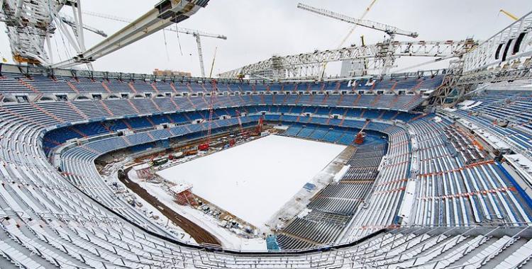 Mirá la tremenda postal del Estadio Santiago Bernabéu cubierto de nieve | El Diario 24
