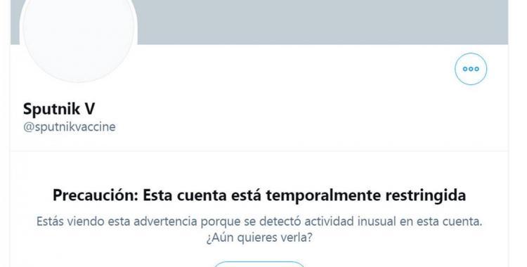 Twitter restringió la cuenta oficial de la vacuna de Sputnik V | El Diario 24