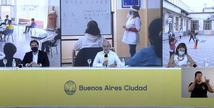 Larreta ratificó la fecha de la vuelta a clases y anunció testeos cada 15 días para los docentes | El Diario 24