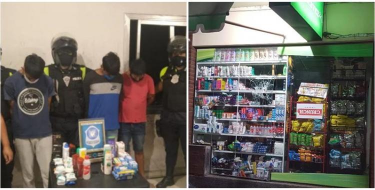Rompieron la vidriera de un miniservice en pleno centro tucumano para robar y fueron atrapados infraganti | El Diario 24