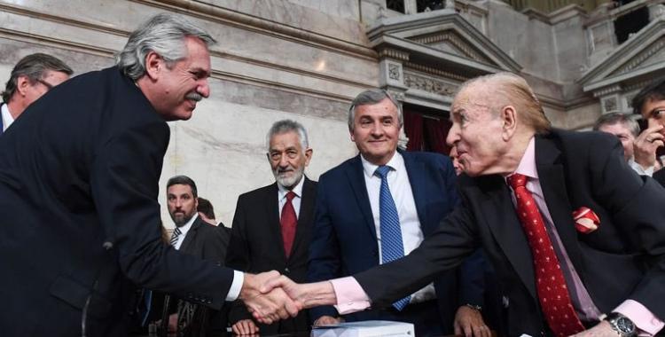 El presidente Alberto Fernández envió sus condolencias a la familia de Carlos Menem tras su muerte | El Diario 24